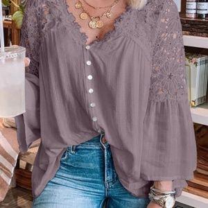 HP💝1/14Boutique size s purple blouse wit…